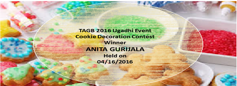 TAGB Cookie Contest at Ugadhi Event