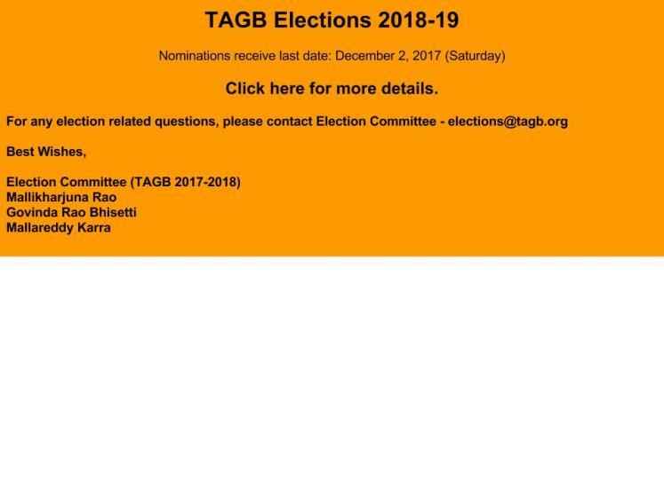 TAGB Elections 2018-19